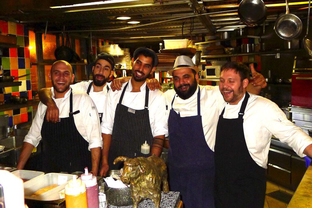 Uri Navon und sein Team, eine fantastische Crew