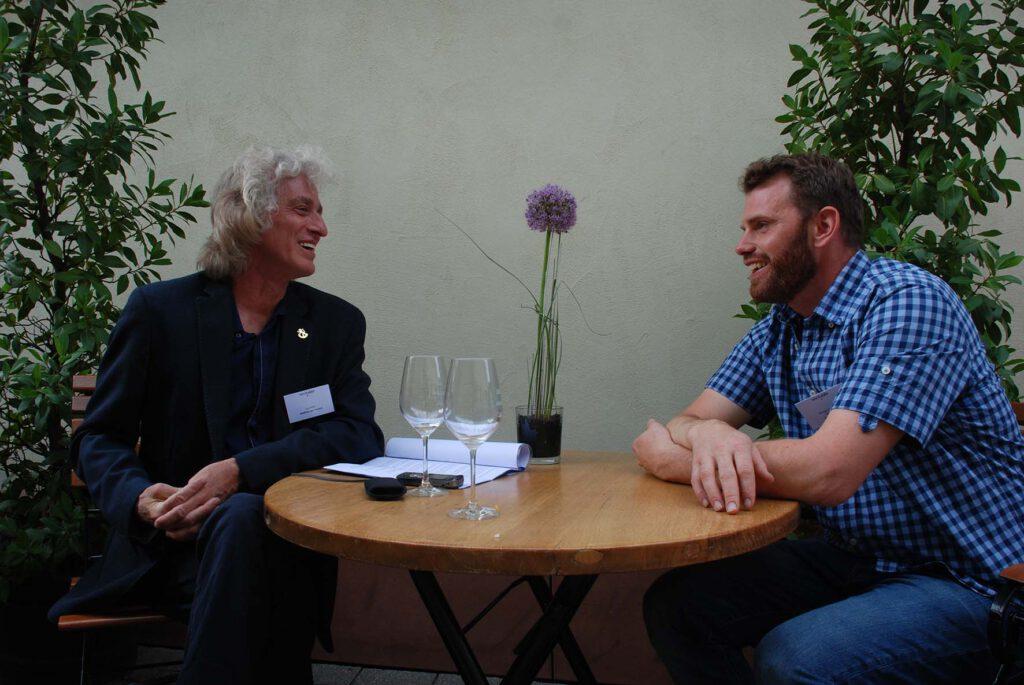 Mathias Guthmann im Interview mit Philipp Kiefer, Foto: Tom Mettendorf