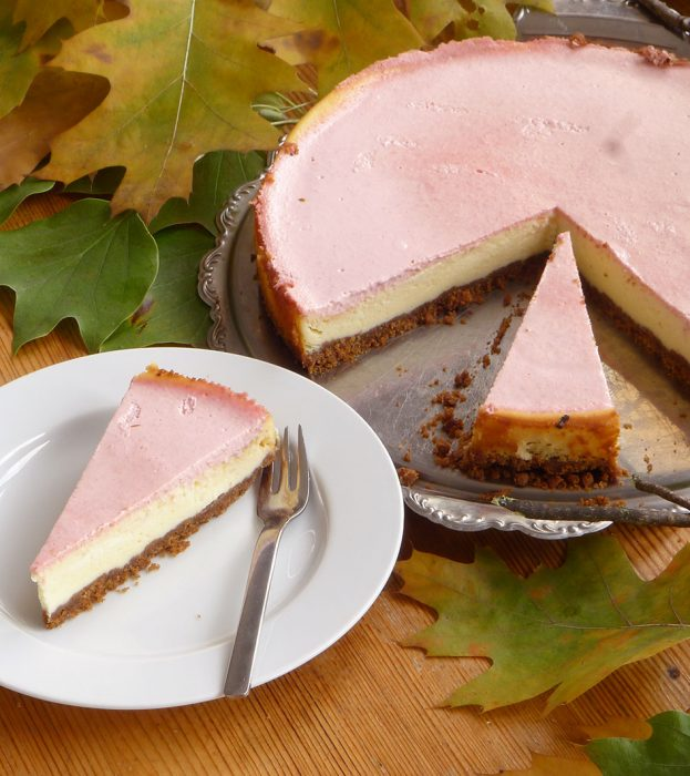 New York Cheesecake mit Guaven-Topping